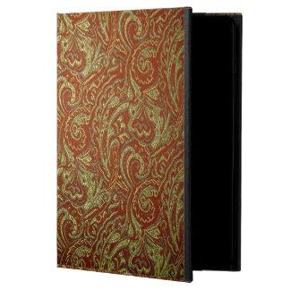 Caja del aire del iPad del damasco del vino y del