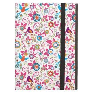 Caja del aire del iPad del estampado de flores sin