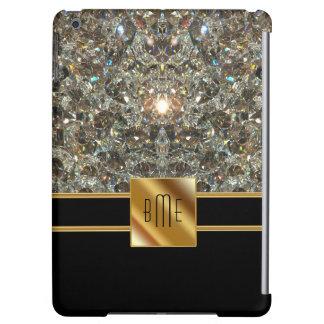 Caja del aire del iPad del monograma de Bling