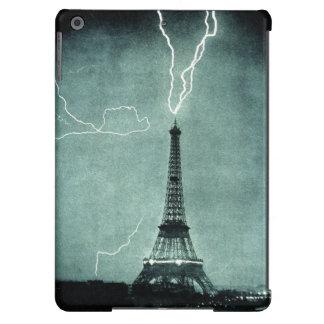 Caja del aire del ipad del rayo de la torre Eiffel Funda Para iPad Air