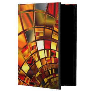 Caja del aire del iPad del rojo y del oro