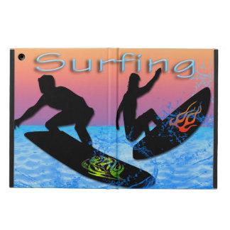 Caja del aire del iPad que practica surf