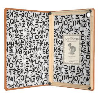 caja del aire del iPad - tipografía en negro y