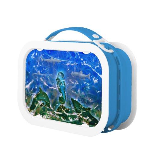 Caja del almuerzo artística del océano profundo 2