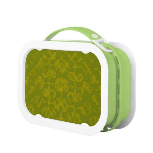 Caja del almuerzo artística verde del diseñador