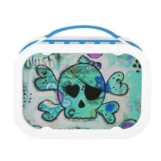 Caja del almuerzo azul de Skully