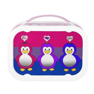 Caja del almuerzo bisexual de los pingüinos del or