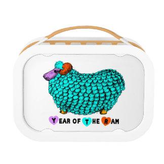 Caja del almuerzo china del personalizado del año