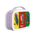Caja del almuerzo colorida personalizada de los ni