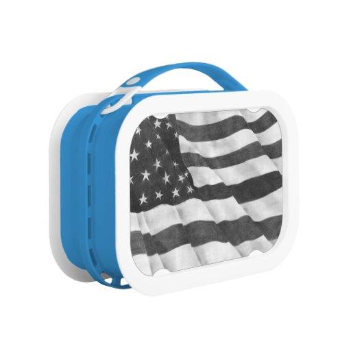 Caja del almuerzo de la bandera americana