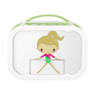 Caja del almuerzo de la gimnasia