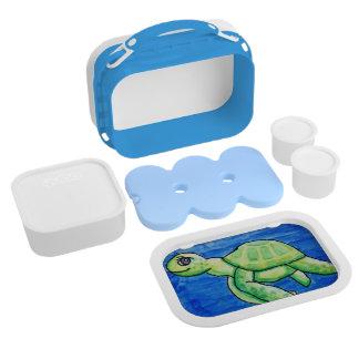 Caja del almuerzo de la tortuga del mar de Dina