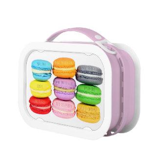 Caja del almuerzo de Macarons