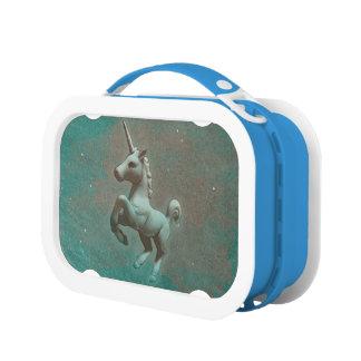 Caja del almuerzo de Yubo del unicornio (acero del