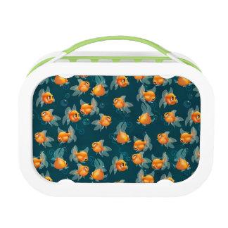 Caja del almuerzo del Goldfish