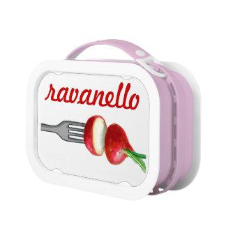caja del almuerzo del ravanello