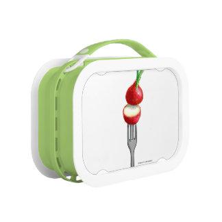 caja del almuerzo del ravanello (verde)