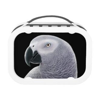 Caja del almuerzo del retrato del loro del gris af
