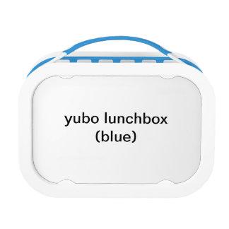 caja del almuerzo del yubo (azul)