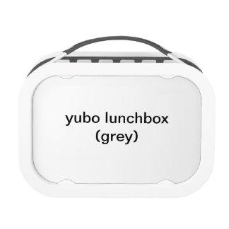 caja del almuerzo del yubo (gris)