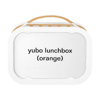 caja del almuerzo del yubo (naranja)