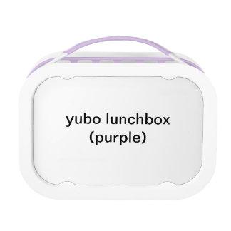 caja del almuerzo del yubo (púrpura)