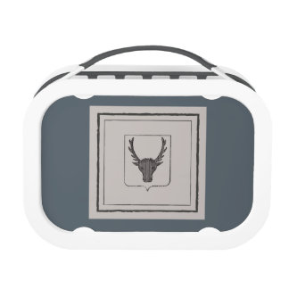Caja del almuerzo gris rústica del cortijo de