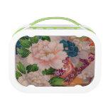 Caja del almuerzo japonesa del diseño de la tela d