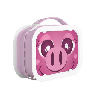 Caja del almuerzo linda de Yubo del cerdo