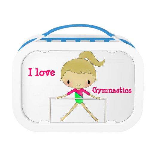 Caja del almuerzo personalizada de la gimnasia