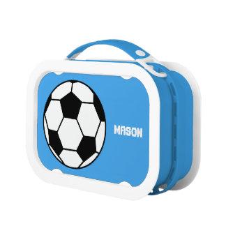 Caja del almuerzo personalizada del fútbol del fút