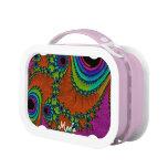Caja del almuerzo Trippy del arte YUBO del fractal