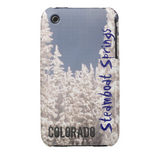Caja del árbol del polvo de Steamboat Springs iPhone 3 Funda