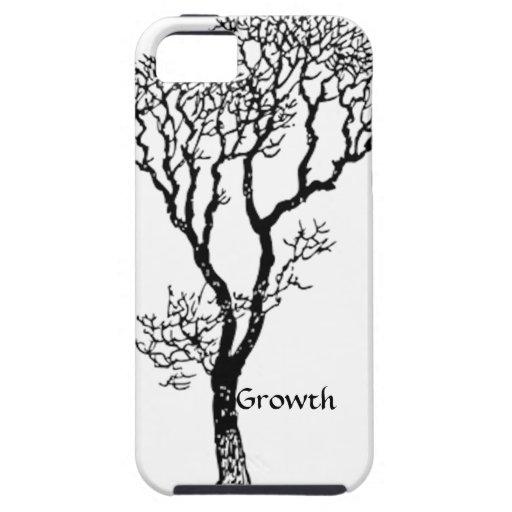 Caja del árbol iPhone-5 del crecimiento iPhone 5 Fundas