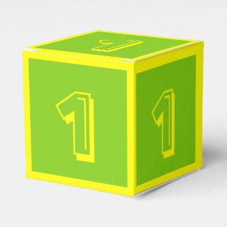 Caja del bloque hueco del número uno por Janz Caja Para Regalo De Boda