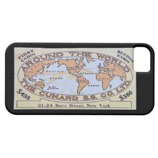 Caja del boleto del revestimiento marino del iPhone 5 carcasa