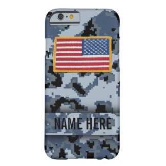 Caja del camuflaje del estilo de la marina de funda de iPhone 6 barely there