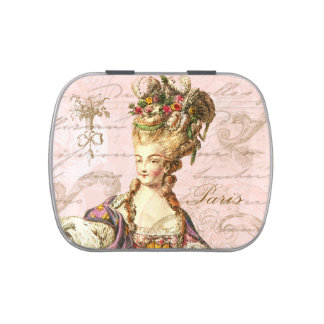 Caja del caramelo de Marie Antonieta Frascos De Caramelos