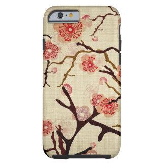 Caja del cerezo del vintage funda de iPhone 6 tough