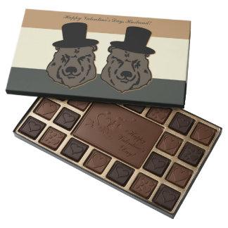 Caja del chocolate de la tarjeta del día de San Caja De Bombones Variados Con 45 Piezas