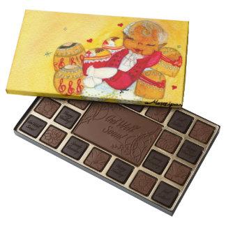 Caja del chocolate del mazapán caja de bombones variados con 45 piezas
