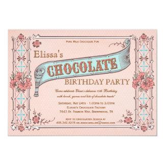 Caja del chocolate del vintage de la invitación