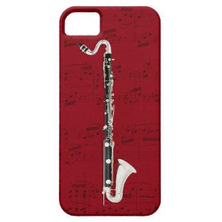 Caja del clarinete bajo y del teléfono de la funda para iPhone SE/5/5s