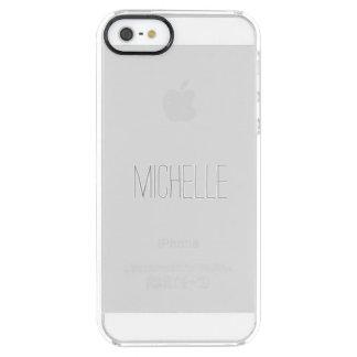 Caja del claro del nombre primario funda clear para iPhone SE/5/5s