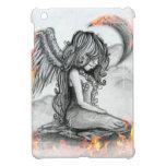 Caja del cojín del ángel i de la luna del fuego mi iPad mini coberturas