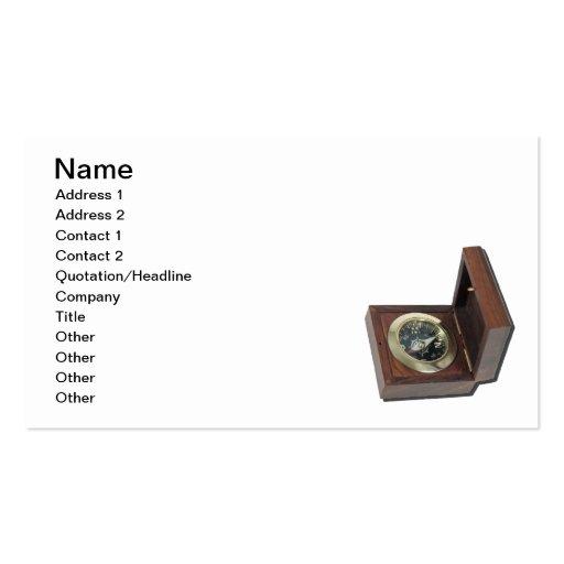 Caja del compás tarjetas de visita