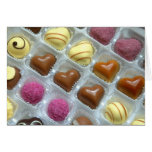 Caja del corazón del chocolate felicitacion