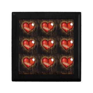 Caja del corazón quebrado del corazón-regalo de la caja de joyas