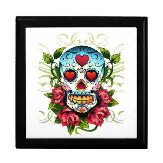 Caja del cráneo y de la baratija de los rosas caja de regalo