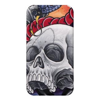 Caja del cráneo y de la serpiente Iphone4/4s iPhone 4 Fundas